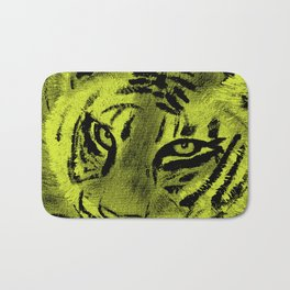 Tiger with Lime Background Bath Mat