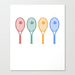 Tennis art vintage Canvas Print