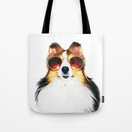 Retro Sheltie Tote Bag