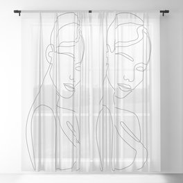 Shy Portrait Sheer Curtain