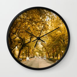 Fall in Central Park Wall Clock