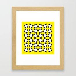 Geometric Pattern 150 (Yellow Squares) Framed Art Print