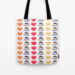 Hearts and Coffee Tote Bag