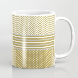 Ikat Gold Chevron Coffee Mug