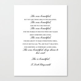 she was beautiful Canvas Print