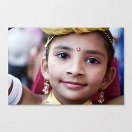 Girl, Udaipur, India Canvas Print