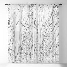 Winter Grasses Sheer Curtain