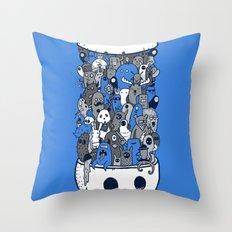 doodle breakout (blue) Throw Pillow