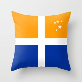 Scillonian cross flag united kingdom region symbol Throw Pillow