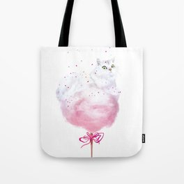 Cotton Candy Tail Tote Bag