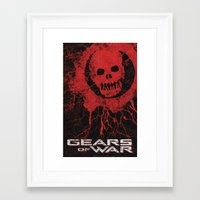 gears of war Framed Art Prints featuring Gears Of War by Bill Pyle