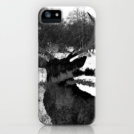 Stag in the Shadows iPhone Case
