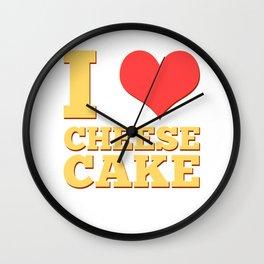 I Love Cheesecake Food Graham Crust Desserts Cheese Pastry Wall Clock