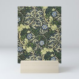 William Morris Vintage Floral Seaweed Vector Digital Painting. Mini Art Print