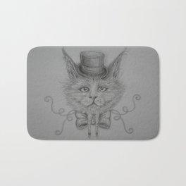Fancy Cat with hat Bath Mat