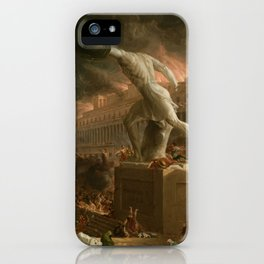 The Course of Empire Destruction - Cole Thomas iPhone Case