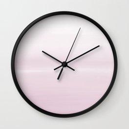 Fog Pink - Abstract Art Series by Jennifer Berdy Wall Clock