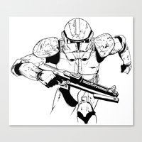 stormtrooper Canvas Prints featuring Stormtrooper by Brontesart