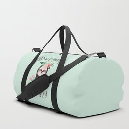 SLOTH ADVICE (mint green) - DON'T HURRY, BE HAPPY! Duffle Bag