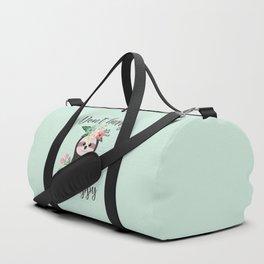 SLOTH ADVICE (mint green) - DON'T HURRY, BE HAPPY! Duffle Bag