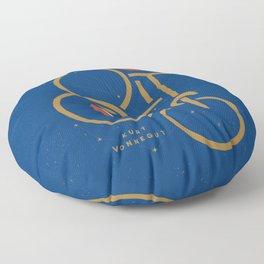 """""""So It Goes"""" — Kurt Vonnegut Floor Pillow"""