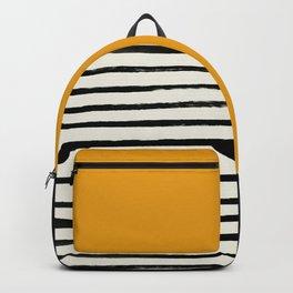 Fall Pumpkin x Stripes Backpack