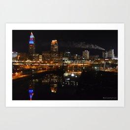 my city sparkles Art Print