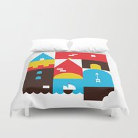 castle Duvet Covers featuring Castle by koivo