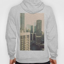 Chicago River Marina Tower Color Photo Hoody