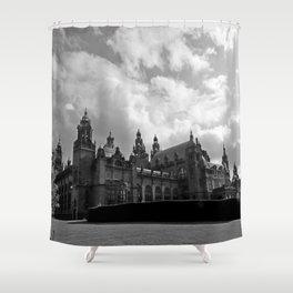 Kelvingrove Art Galleries and Museum b/w Shower Curtain