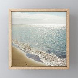 beauty and the beach Framed Mini Art Print