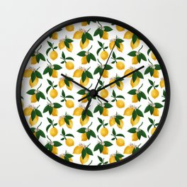 Lemony Fresh in White Wall Clock