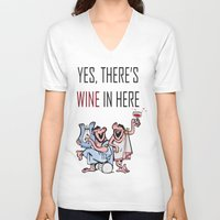 wine V-neck T-shirts featuring Wine by Artysmedia