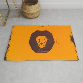 Vector lion print Rug