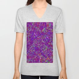 Abstract RR QQP Unisex V-Neck