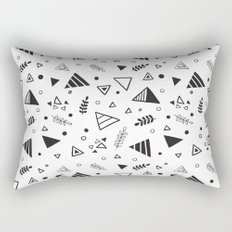 Organic Triangles Rectangular Pillow