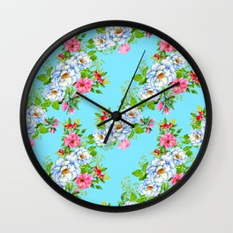 Vintage Floral Pattern No. 8 Wall Clock