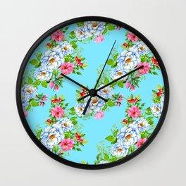 Vintage Floral Pattern No. 8 Wall Clock