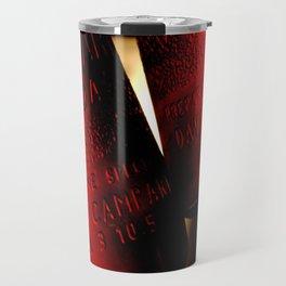 """""""so I drank one / it became four"""" Travel Mug"""