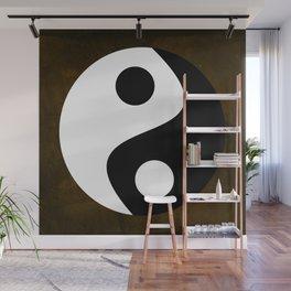 Yin and Yang - Brown Wall Mural
