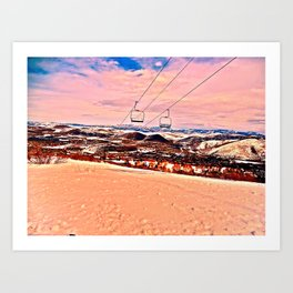 Chilly Sand Art Print