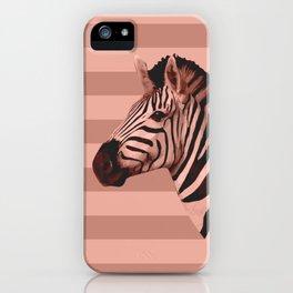 [Animals & Stripes] Peach zebra iPhone Case