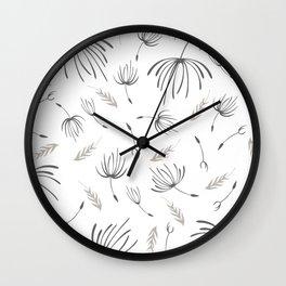 dandelion pattern Wall Clock