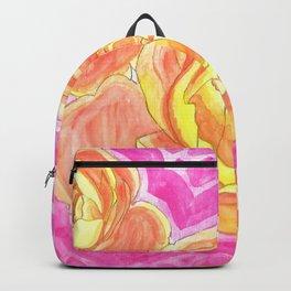 Orange Roses Watercolor Backpack