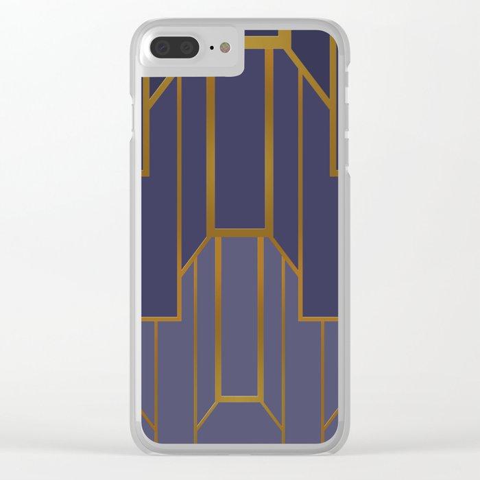 ART DECO G3 (abstract artdeco geometric) Clear iPhone Case