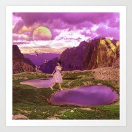 Magical landscape Art Print