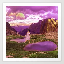 Magical landscape Art Print