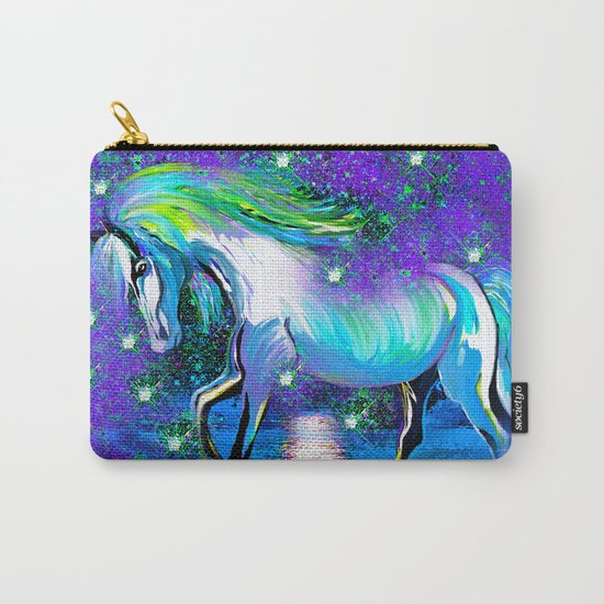 HORSE DANCING IN STAR LIGHT AND MOON DUST Carry-All Pouch