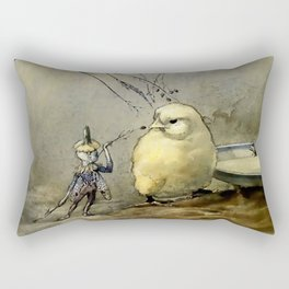 """Bother the Gnat"" by Duncan Carse Rectangular Pillow"