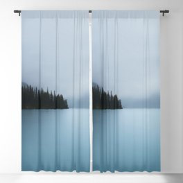 Maligne Lake in Fog Blackout Curtain